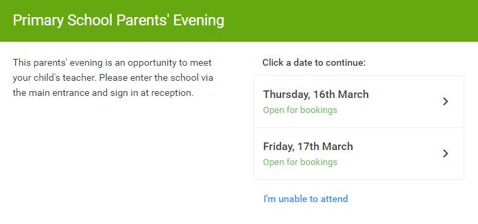 Ipsley CE RSA Academy | Parents' Evening